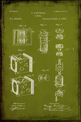 35mm Mixed Media - Camera Patent Drawing 2g by Brian Reaves