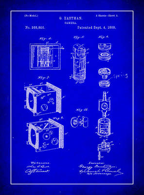 35mm Mixed Media - Camera Patent Drawing 2h by Brian Reaves