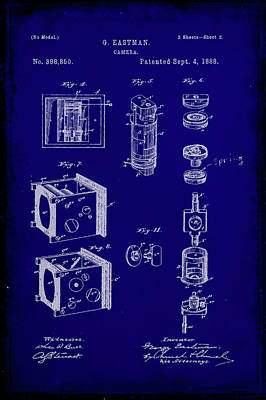 35mm Mixed Media - Camera Patent Drawing 2i by Brian Reaves