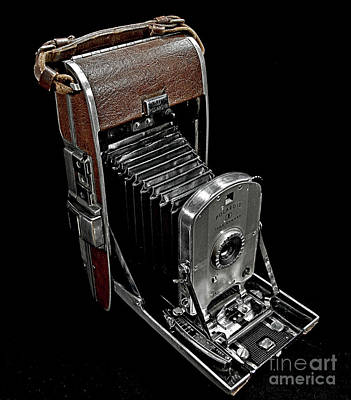 Photograph - Camera - Vintage Polaroid Land Camera Model 95 by Doc Braham