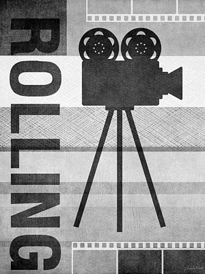 Cameras Rolling- Art By Linda Woods Art Print