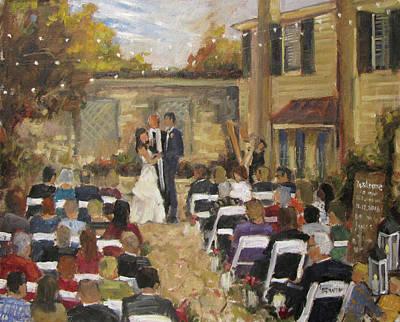 Mashburn Painting - Camerio - Mashburn Wedding by Barbara Davis