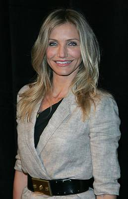 Cameron Diaz Wearing An Elizabeth & Art Print by Everett