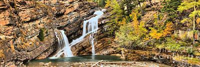 Photograph - Cameron Falls Medium Panorama by Adam Jewell