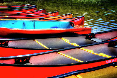 Photograph - Cameron Lake Rental Canoes by Roger Passman
