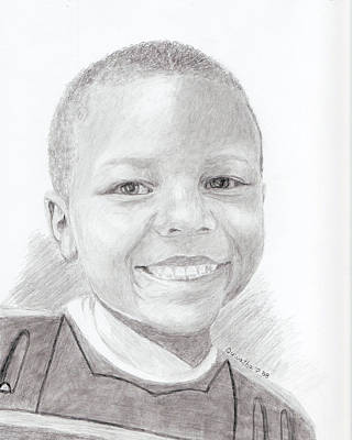 Drawing - Cameron by Quwatha Valentine