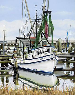 Photograph - Camille Docked by Phyllis Beiser