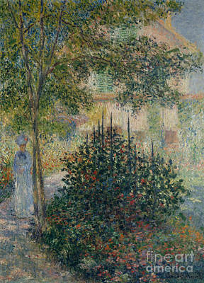 Painting - Camille Monet In The Garden At Argenteuil, 1876 by Claude Monet