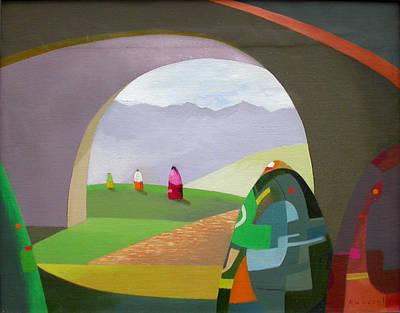 Mochica Painting - Caminantes IIi by Roberto Kasisol