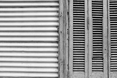 Photograph - Caminito Windows Bw by Silvia Bruno