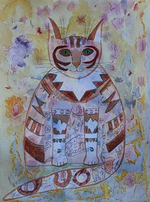 Painting - Camo Cat by Vera Smith