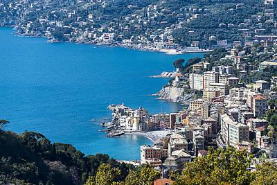 Golfo Paradiso Photograph - Camogli And Paradise Coast From Portofino Mount View by Enrico Pelos