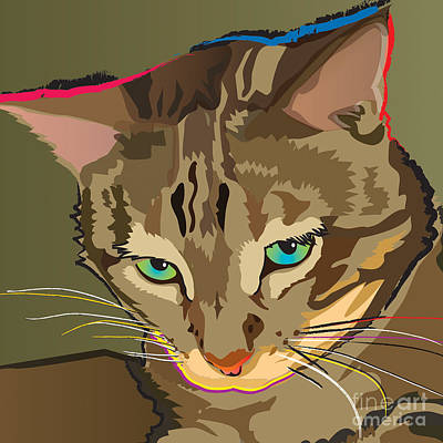 Painting - Camouflage Bengal Cat Square by Robyn Saunders