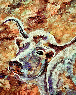 Photograph - Camouflage Cow Art by Janice Rae Pariza