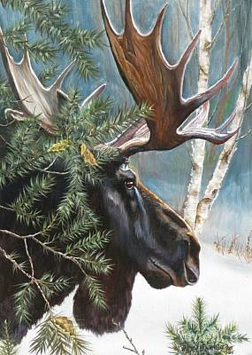 Winter Painting - Camouflage by Heidi Parmelee-Pratt