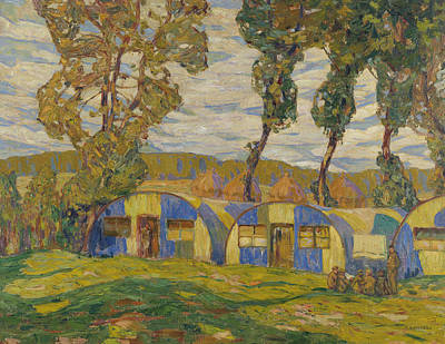 Painting - Camouflage Huts, Villers-au-bois by Alexander Young Jackson