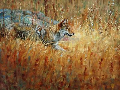 Coyote Painting - Camouflage by Jim Clements