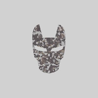 Digital Art - Camouflage Mask by Anton Kalinichev