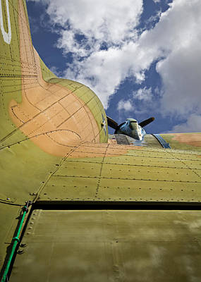Photograph - Camouflaged Propeller Aiplane by Phil Cardamone