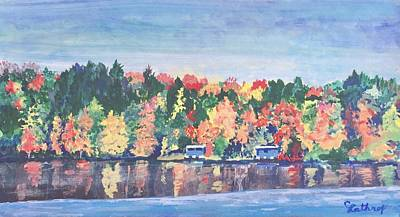 Painting - Camp Archbald At Ely Lake by Christine Lathrop