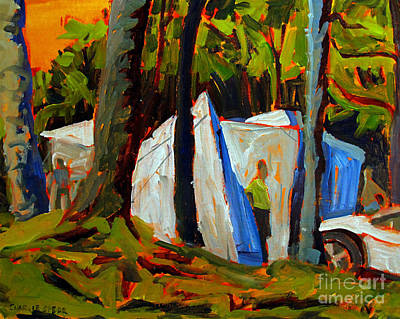 Ohio Painting - Camp At Flint Ridge by Charlie Spear