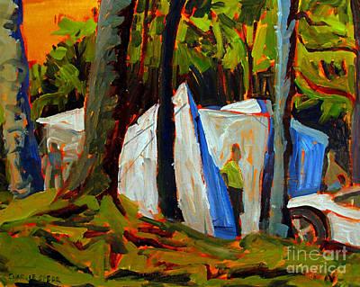 Camp At Flint Ridge Original by Charlie Spear