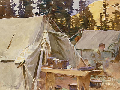 Canadian Rockies Painting - Camp At Lake Ohara, 1916 by John Singer Sargent