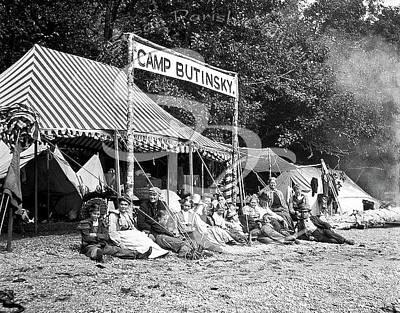Photograph - Camp Butinsky In Butler Cove 1905-10 by Joe Jeffers