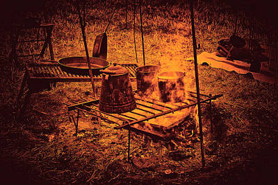 Camp Fire - Stove Print by Paul W Faust - Impressions of Light