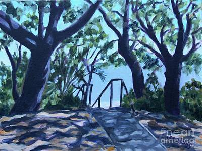 Painting - Camp Helen State Park by Jan Bennicoff