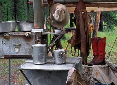 Camp Kitchen Print by Leland D Howard