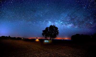Photograph - Camp Milky Way by Mark Andrew Thomas