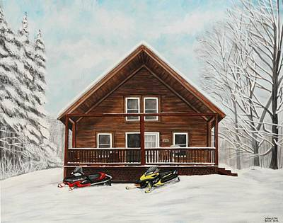 Maine Landscapes Painting - Camp New Portland Maine by Wahleyah Black