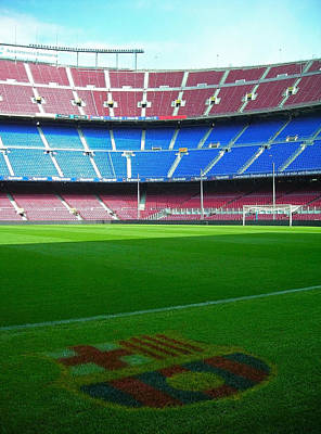 Camp Nou - Barcelona Print by Juergen Weiss
