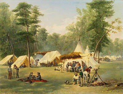 Kentucky Landscape Artist Painting - Camp Of The Third Kentucky Confederate Infantry At Corinth. Mississippi by Conrad Wise Chapman