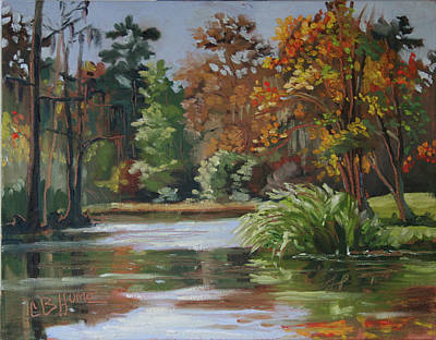Painting - Camp Salmen Nature Preserve by CB Hume