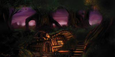 Camp Seve And Timber Original by Mark Ehrett