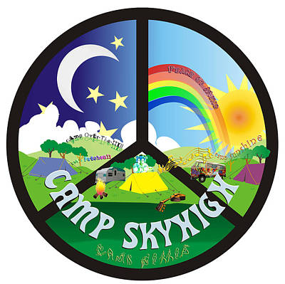 Digital Art - Camp Skyhigh by Karen Musick