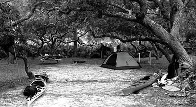 Photograph - Camp Under Live Oaks by Daniel Reed