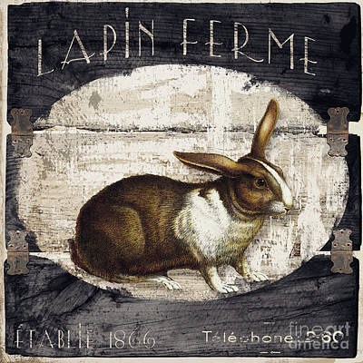 Campagne Iv Rabbit Farm Print by Mindy Sommers