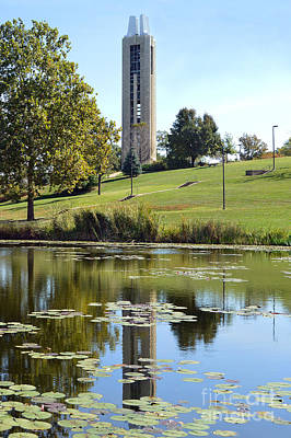Campanile Reflection In Kansas Art Print by Catherine Sherman