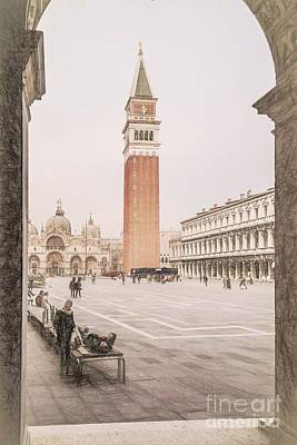 Digital Art - Campanile, Venice by Howard Ferrier