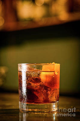 Pop Art Rights Managed Images - Campari Orange Soda Cocktail Drink In Bar Royalty-Free Image by JM Travel Photography