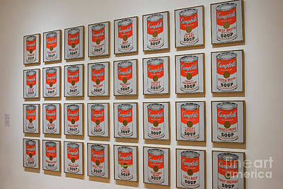 Art Print featuring the photograph Campbell Soup By Warhol by Patricia Hofmeester