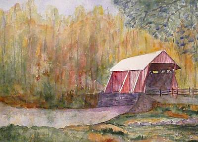 Covered Bridge Painting - Campbell's Bridge by Stella Schaefer