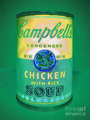 Photograph - Campbells Condensed Chicken With Rice Soup 20160211clrm60 by Wingsdomain Art and Photography