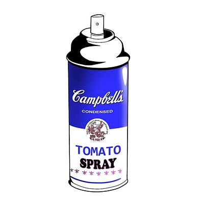 Campbells Condesned Tomato Spray Can Variant #103 Original by Mr Clever