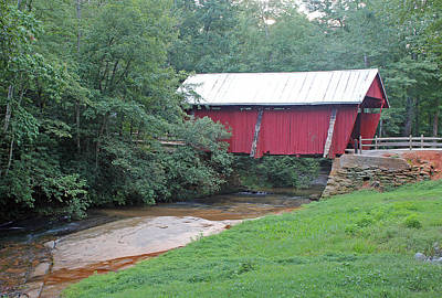 Photograph - Campbell's Covered Bridge 1 by Joseph C Hinson Photography