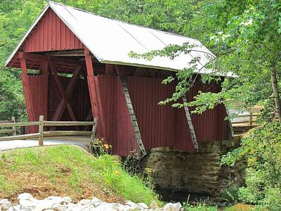 Campbells Covered Bridge Photograph - Campbell's Covered Bridge by Ginger Wemett