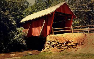 Photograph - Campbell's Covered Bridge by Kathy Barney